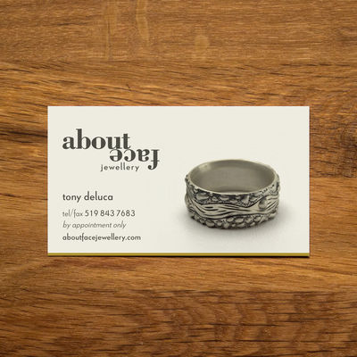 About Face Jewellery image - Business card: 8.9 x 5.1 cm