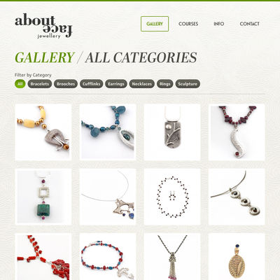 About Face Jewellery image - Website Design