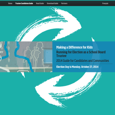 Ontario School Trustees image - Trustee Candidate Guide website