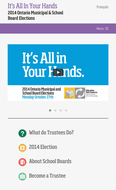 Ontario School Trustees image - Ontario School Board Elections website