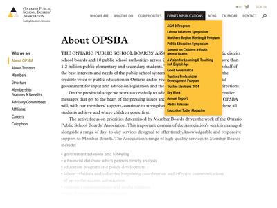 OPSBA image - Navigation design